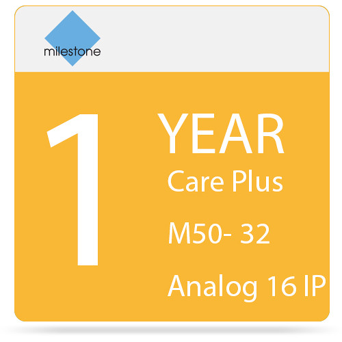 Milestone Care Plus for Husky M50 (1-Year, 32 Analog & 16 IP Devices)