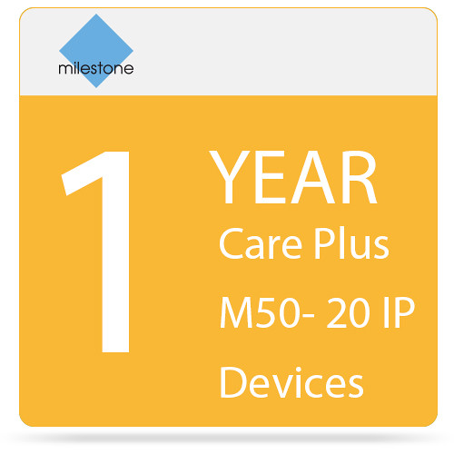 Milestone Care Plus for Husky M50 (1-Year, 20 IP Devices)