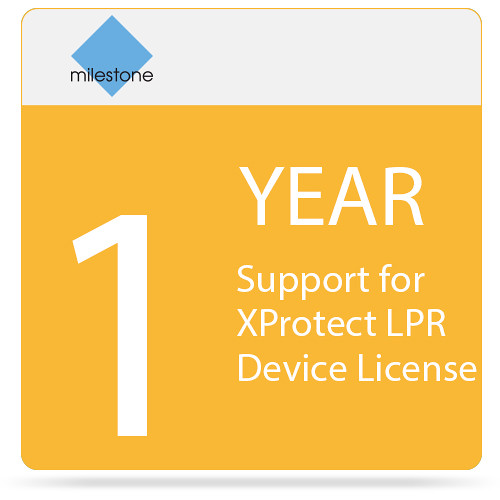 Milestone 1-Year SUP for XProtect LPR Device License