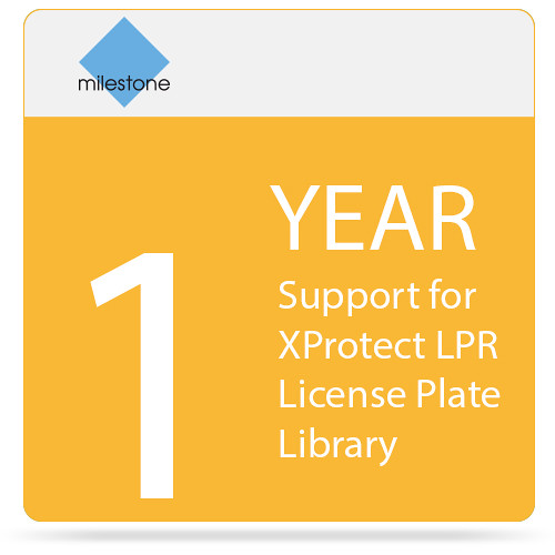 Milestone 1-Year SUP for XProtect LPR License Plate Library