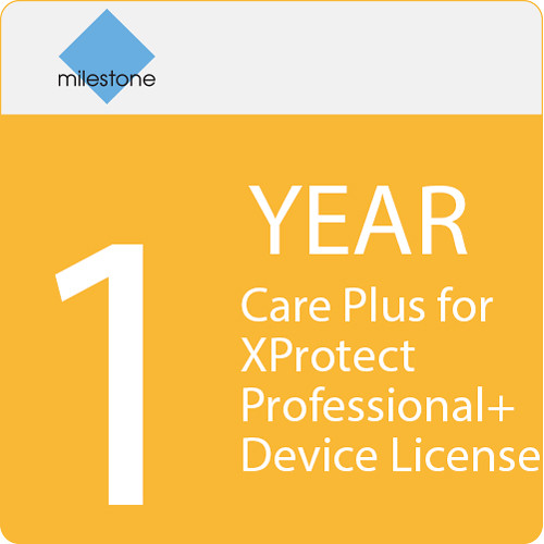 Milestone Care Plus for XProtect Professional+ Device License (1-Year)