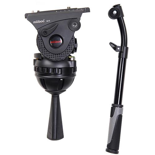 miliboo M15 Professional Broadcast Movie Adjustable Hydraulic Fluid Head Camera Tripod