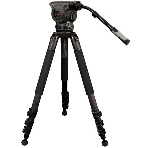 miliboo Professional 3-Piece Carbon Fiber Tripod with Hydraulic head M25