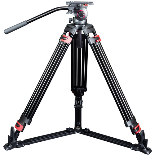 miliboo MTT609A Professional DSLR Camera, Camcorder, Camera Aluminum Tripod with Hydraulic Ball Head