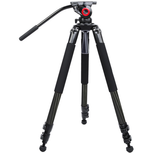 miliboo MTT701B Portable Tripod Kit with Fluid Head (Carbon Fiber)