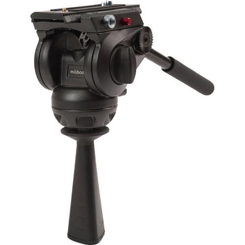 miliboo MYT802 Fluid Head with Flat Head and 75mm Half Ball Adapter