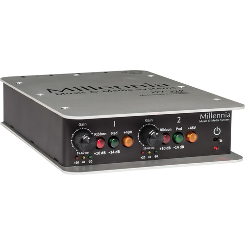 Millennia HV-32P Portable Microphone Preamplifier (Two Channel)