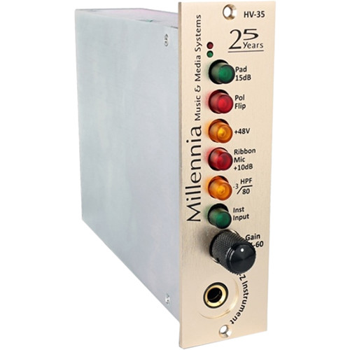 Millennia HV-35 Anniversary Edition 500-Series Microphone and Instrument Preamplifier (Champagne-Gold)