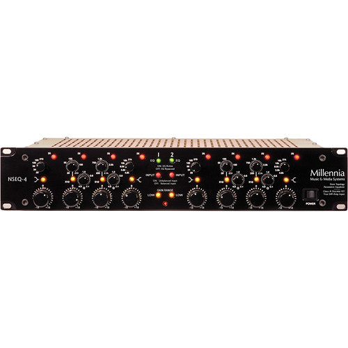 Millennia NSEQ-4 2-Channel Class A Discrete Solid State Parametric Equalizer