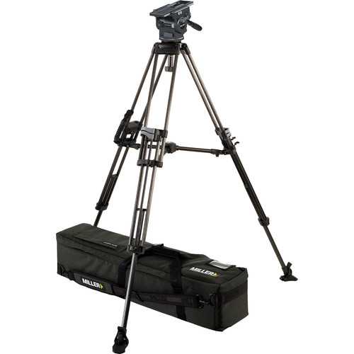 Miller 3043 ArrowX 3 Sprinter II Two-Stage Carbon Fiber Tripod System