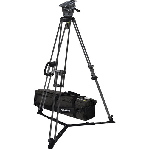 Miller ArrowX 5 Sprinter II 1-Stage Aluminum Tripod System with Ground Spreader