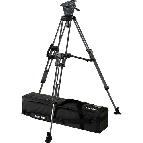 Miller ArrowX 5 Sprinter II 2-Stage Aluminum Tripod System with Mid-Level Spreader