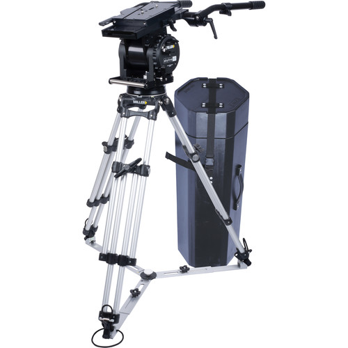 Miller Skyline 90 HD 1-Stage Alloy Tripod System with Ground Spreader & Two Cases