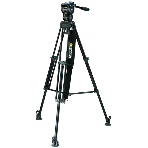 Miller CX2 Fluid Head with Toggle 75 1 Stage Alloy Tripod System