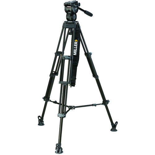 Miller CX2 Fluid Head with Toggle 75 2-Stage Alloy Tripod System (Mid-Level Spreader)