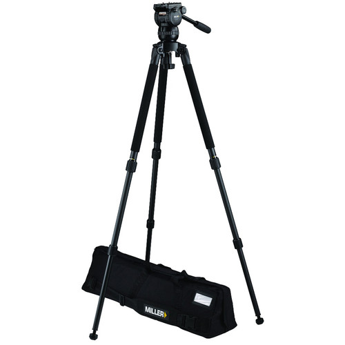Miller CX2 Fluid Head with Solo 75 2 Stage Alloy Tripod System