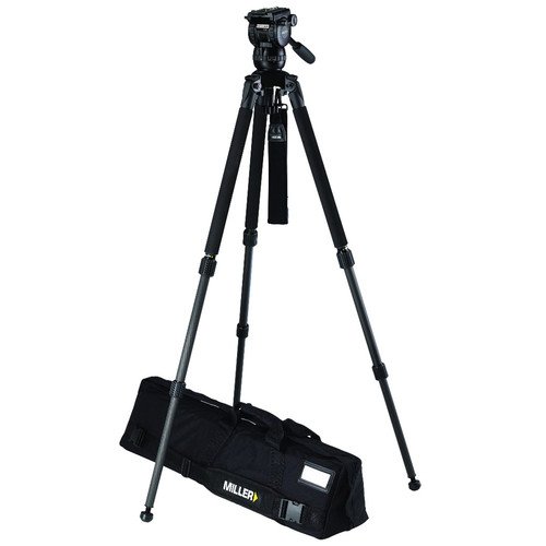 Miller CX2 Fluid Head with Solo 75 2-Stage Carbon Fiber Tripod System