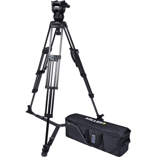 Miller CX2 Head and 75 Sprinter II Carbon Fiber Tripod with Ground Spreader and Case