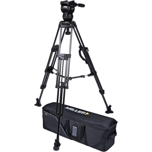 Miller CX6 Head and 75 Sprinter II Carbon Fiber Tripod with Mid-Level Spreader and Case