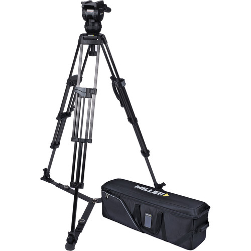 Miller CX6 Head and 75 Sprinter II Carbon Fiber Tripod with Ground Spreader and Case