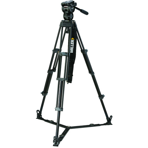 Miller CX8 Fluid Head with Toggle 2-Stage Alloy Tripod System (Ground-Level Spreader)