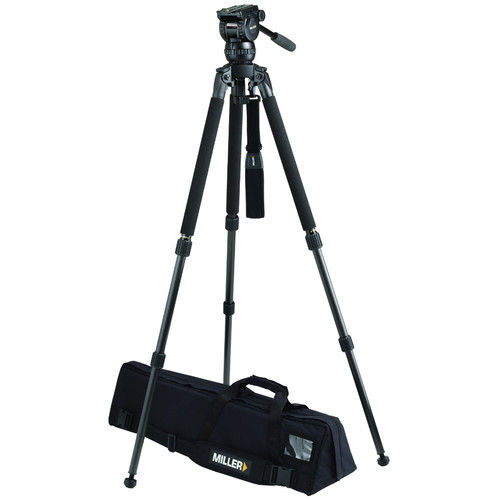 Miller CX8 Fluid Head with Solo 75 2-Stage Carbon Fiber Tripod System