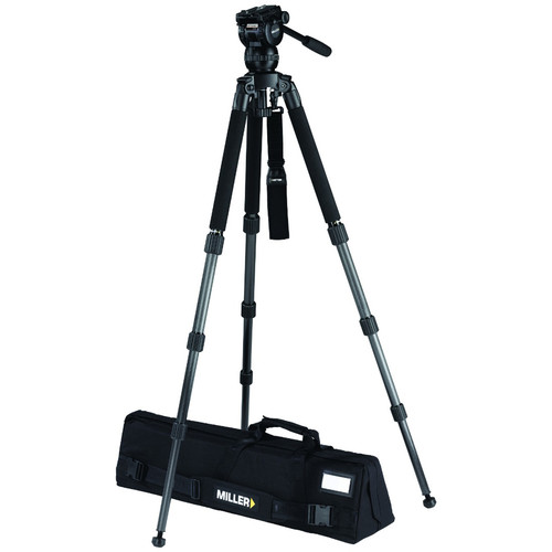 Miller CX8 Fluid Head with Solo 75 3-Stage Carbon Fiber Tripod System