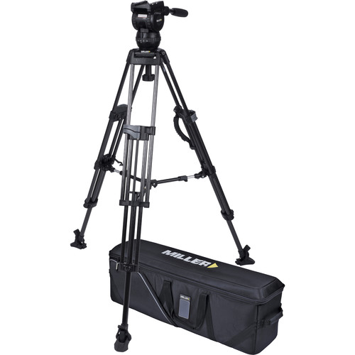 Miller CX8 Head and 75 Sprinter II Carbon Fiber Tripod with Mid-Level Spreader and Case