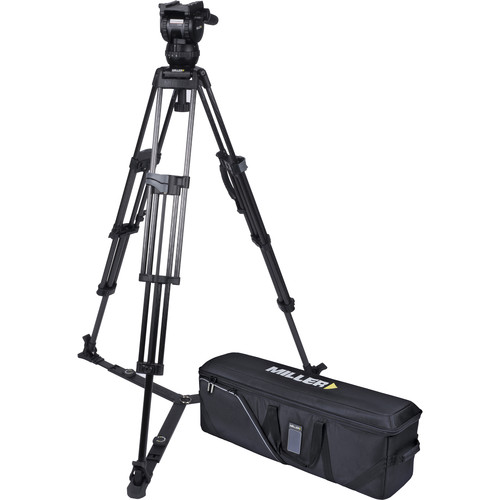 Miller CX8 Head and 75 Sprinter II Carbon Fiber Tripod with Ground Spreader and Case