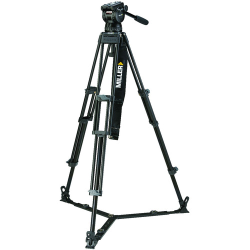 Miller CX10 Toggle 2-Stage Alloy Tripod System with Ground Spreader