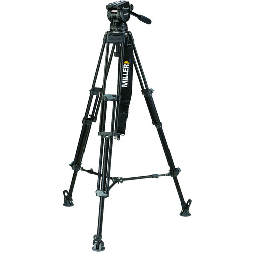 Miller CX10 Toggle 2-Stage Aluminum Tripod System with Mid-Level Spreader