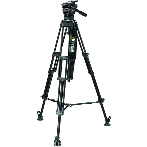 Miller CX18 Toggle 2-Stage Aluminum Tripod System with Mid-Level Spreader