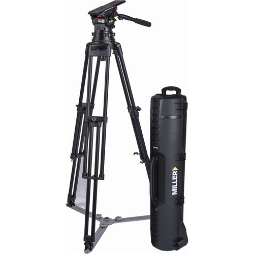 Miller CiNX 3 HDC 150mm 1-Stage Alloy Tripod System with Ground Spreader, Pan Handle & Smartcase