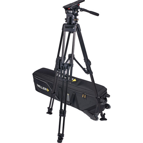 Miller CiNX 7 HD 2-Stage CF Tripod System with Mid-Level Spreader, Pan Handle & Shellcase