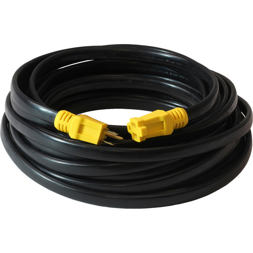 Milspec 12-AWG Flat SPT-3 Extension Cord (50', Black and Yellow)
