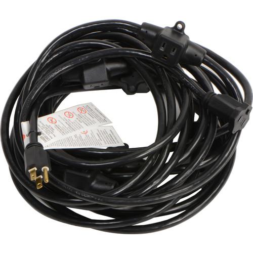 Milspec 14-Gauge Multi-Outlet Power Cable (52.5', Black)