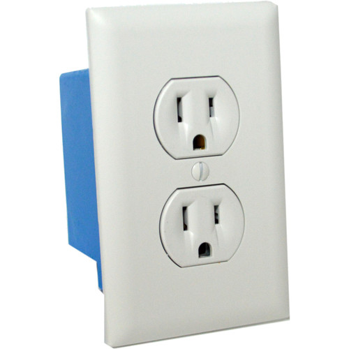 Bush Baby Wall Outlet with 4K UHD Covert Wi-Fi Camera (White)