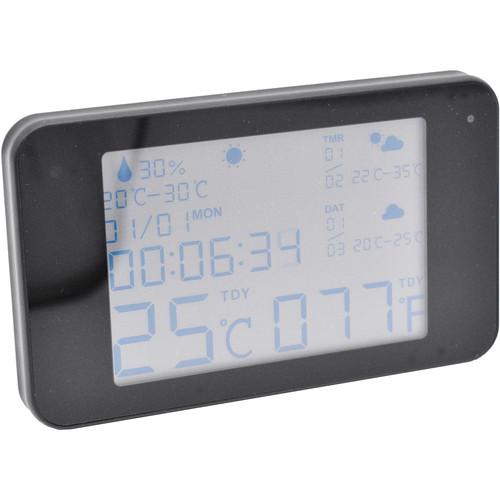 Mini Gadgets Digital Weather Clock with 1080p Covert Night-Vision Wi-Fi Camera