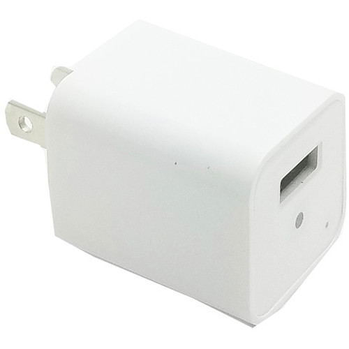 Mini Gadgets USB Power Adapter with 1080p Covert Camera (White)