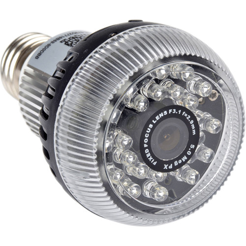 Mini Gadgets Bulb with Covert 720p Wi-Fi Night Vision Camera