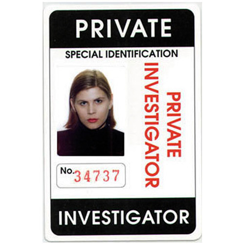 Mini Gadgets Private Investigator ID Card