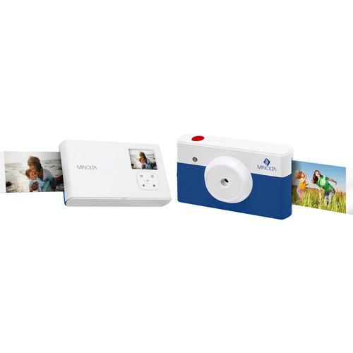 Minolta Instapix Print Camera with Printer (Blue)