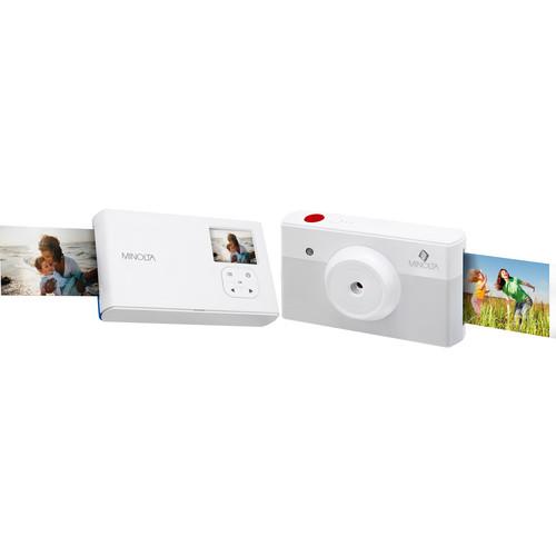 Minolta Instapix Print Camera with Printer (Gray)