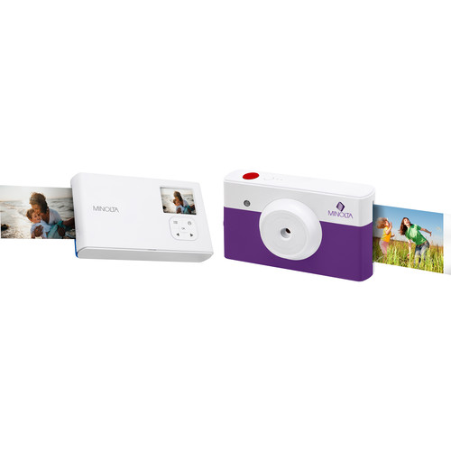 Minolta Instapix Print Camera with Printer (Purple)