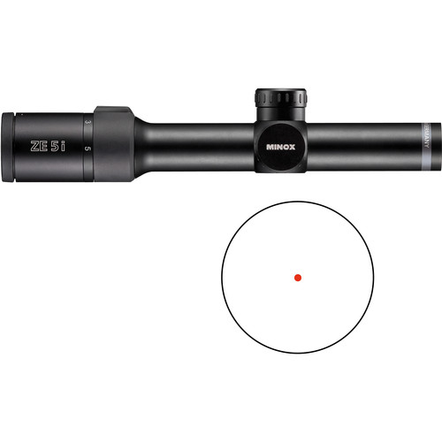 Minox 1-5x24 ZE 5i Riflescope (Red Dot Illuminated Reticle, Matte Black)