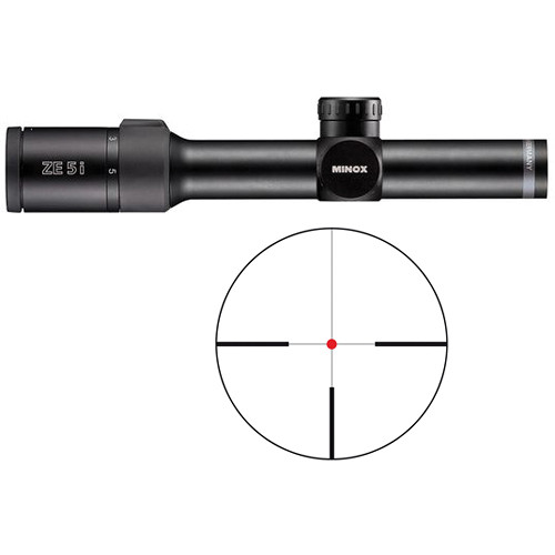 Minox 1-5x24 ZE 5i Riflescope (German #4 Illuminated Reticle, Matte Black)