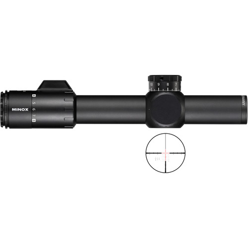 Minox 1-8x24 ZP8 TAC Riflescope (Two MR10+ Illuminated Reticles)