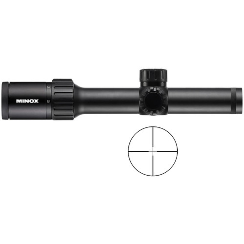 Minox 1-5x24 ZX5i Riflescope (Plex Illuminated Reticle)