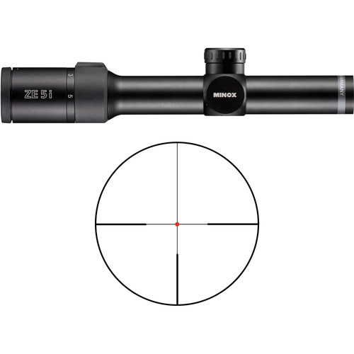 Minox 1-5x24 ZE5.2i Riflescope (German #4 Reticle, Matte Black)