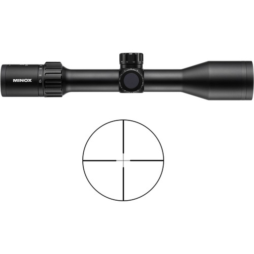 Minox 2-10x45 ZX5i Riflescope (Plex Illuminated Reticle, Matte Black)